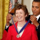 Photo:In July 2009 Robinson was awarded the Presidential Medal of Freedom, the highest civilian medal awarded in the US, by President Obama.